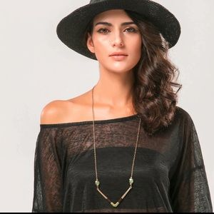 B1G1 FREE! Wrapped Collar Necklace Gold-tone Boho